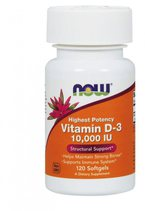 NOW Vitamin D3 10000 IU (120 гел. капс.)