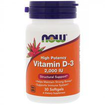 NOW Vitamin D3 2000 IU (30 гел. капс.)
