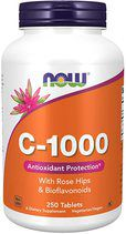 NOW Vitamin C 1000 mg + Rose Hips + Bioflavonoids (100 таб.)