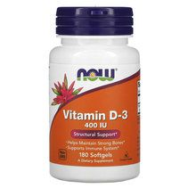 NOW Vitamin D3 400 IU (180 капс)