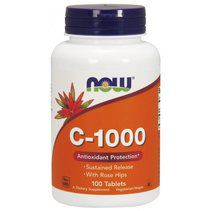 NOW Vitamin C 1000 mg + Sustained Release + Rose Hips (100 таб.)