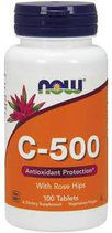 NOW Vitamin C 500 mg + Rose Hips (100 таб.)